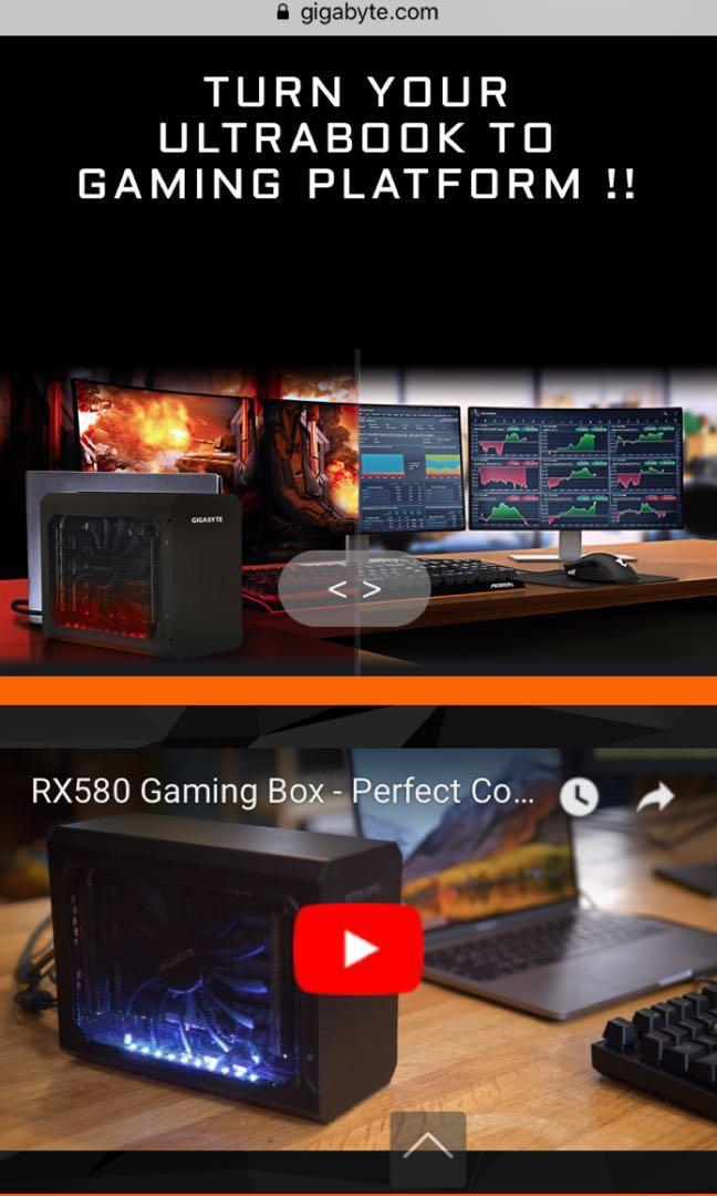 Gigabyte RX580 Gaming Box EGPU, Electronics, Computer Parts
