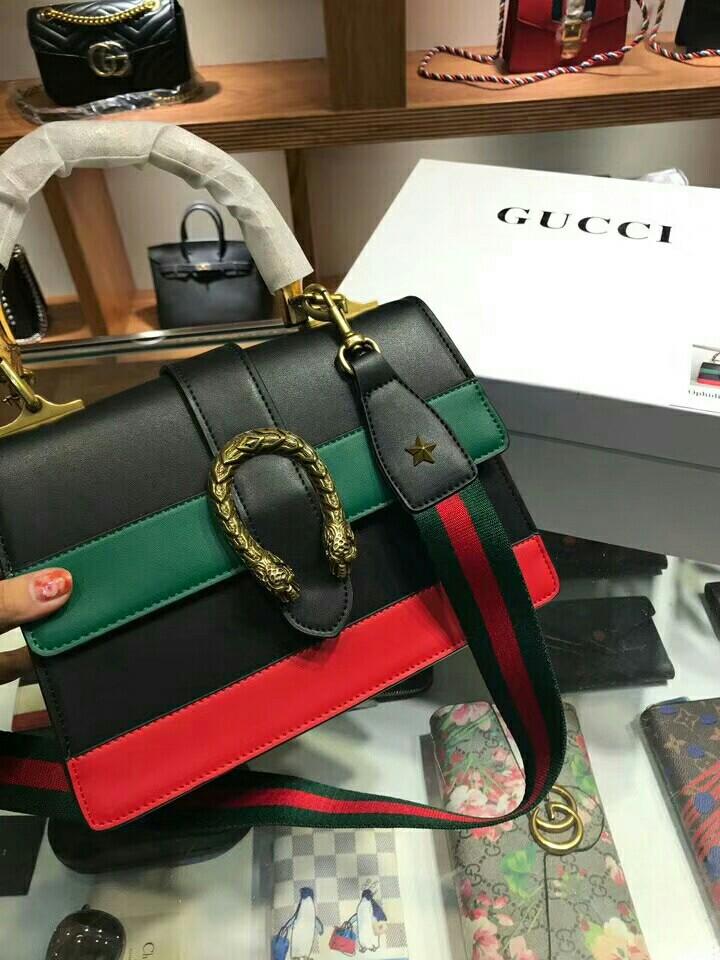 3bf4bab92fb Gucci dionysus medium top handle bag  black green red