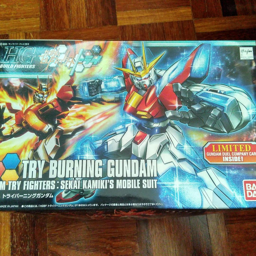 Hg Gunpla Try Burning Gundam Mainan Game Undefined Di Carousell