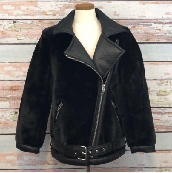 H&M Fur Moto Jacket