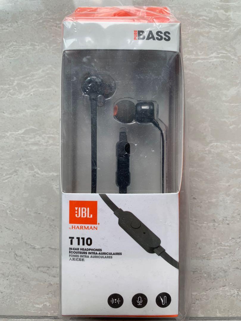 47b2f4461d9 JBL Harmon JBL T110 In-ear Headphones with Built-in Microphone ...