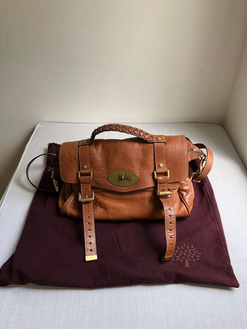6f09d8c351a7 Mulberry Alexa Mini in Oak Soft Buffalo Leather Satchel Bag