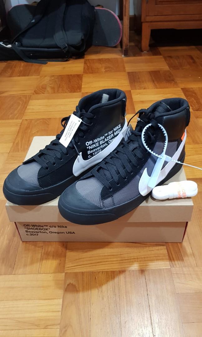 a9ac00f7fb03 Off White Nike Blazer Mid Grim Reaper