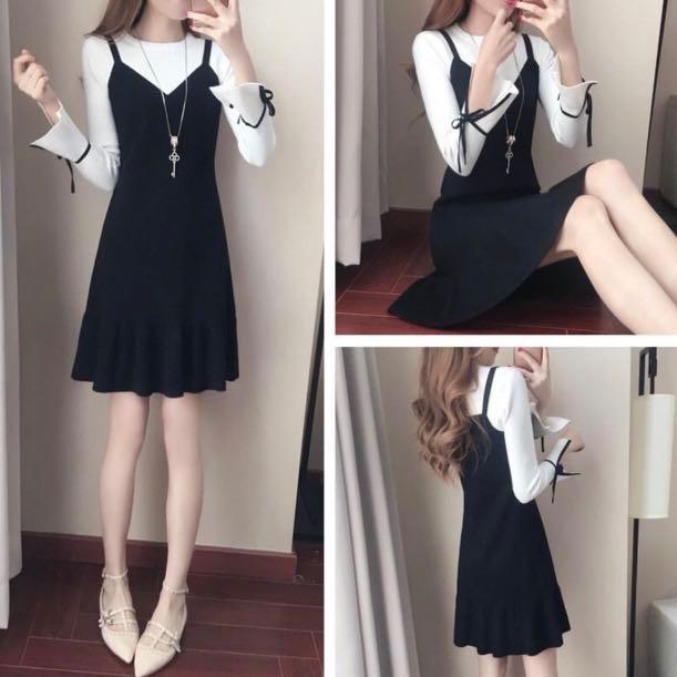 One Piece Dress Korean Style Dress Women S Fashion Clothes