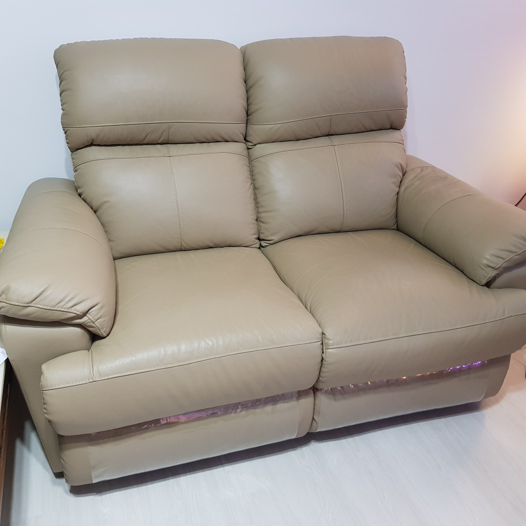 Part Leather Recliner Sofa Furniture Sofas On Carousell