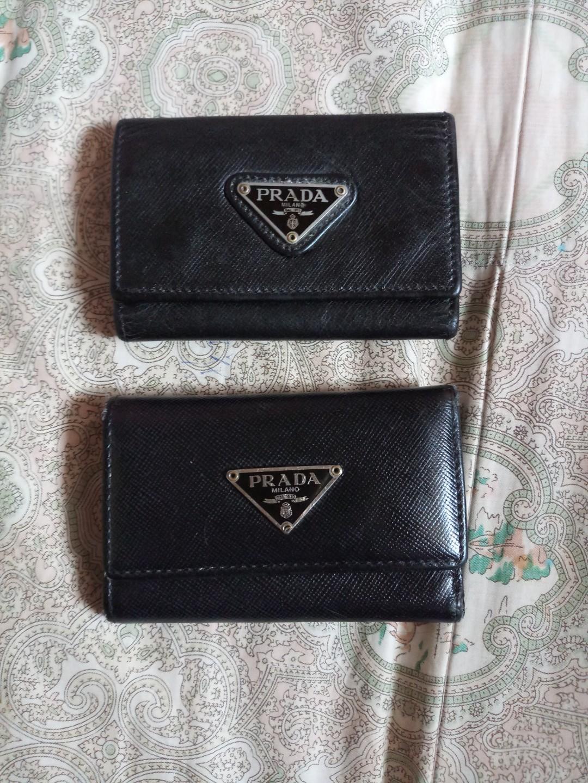 43afb2c6a126 Prada black leather key holder, Women's Fashion, Bags & Wallets on ...