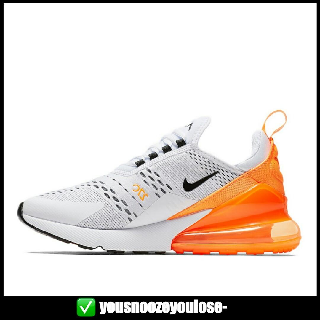 timeless design a7dc4 64055 PREORDER] NIKE AIR MAX 270 WHITE TOTAL ORANGE / JUST DO IT ...