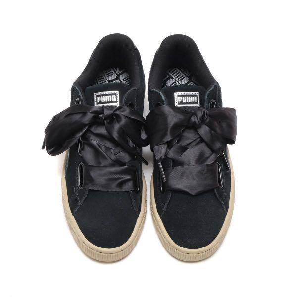 buy online 06725 609cc Puma Suede Heart Safari Black Metallic Sneakers