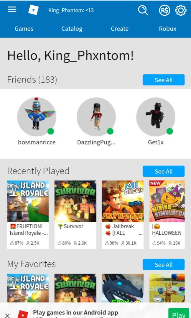 roblox account rich, Toys & Games, Video Gaming, In-Game