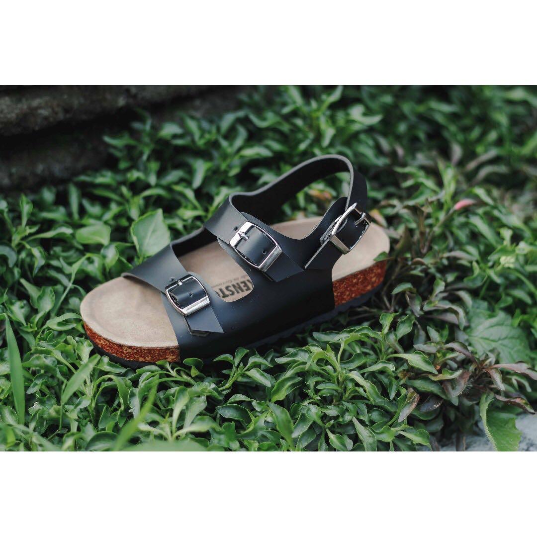 Sandal Birkenstock Anak Milano Hitam