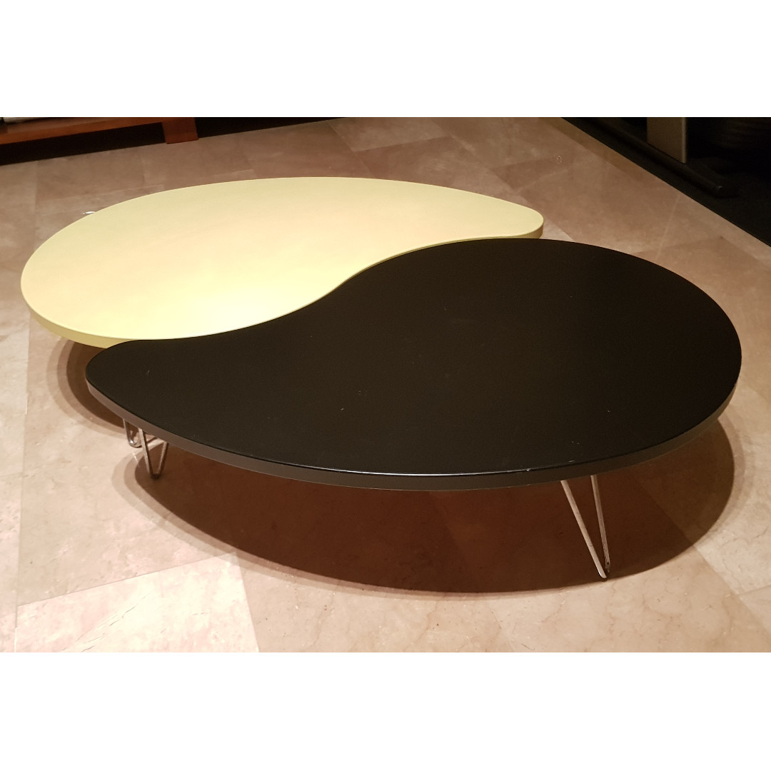 Set Of 2 Ying Yang Modern Low Tables Furniture Tables Chairs On