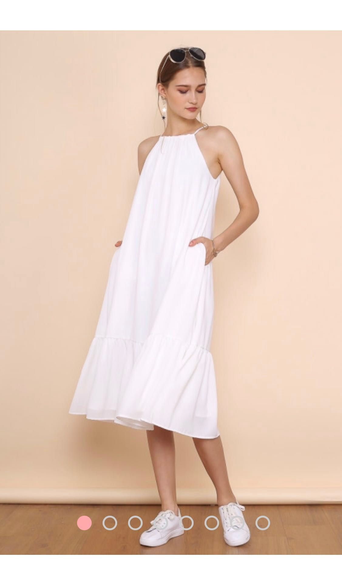 49dbcff12a3a Shop Supergurl Faith Halter Midi Dress (White) Size M