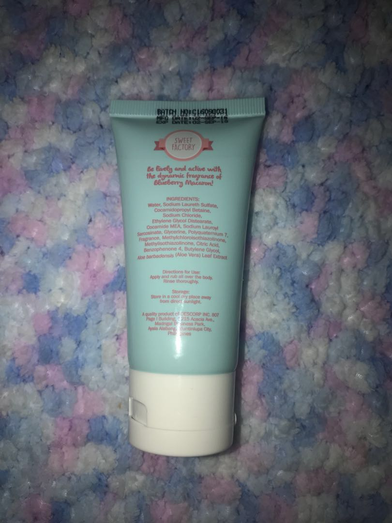 Sweet Factory Macaron Lotion and Shower Cream