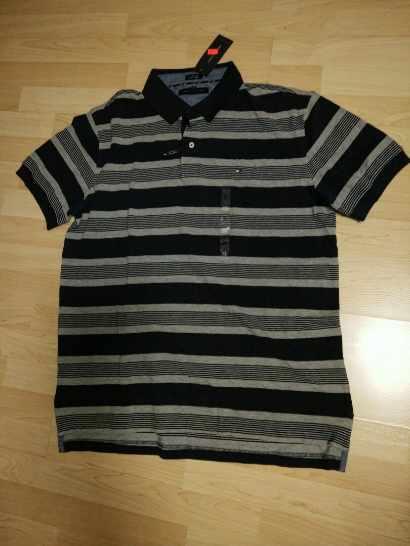 4eed52d4 Tommy Hilfiger BNWT Authentic blue strip polo shirt, Men's Fashion ...