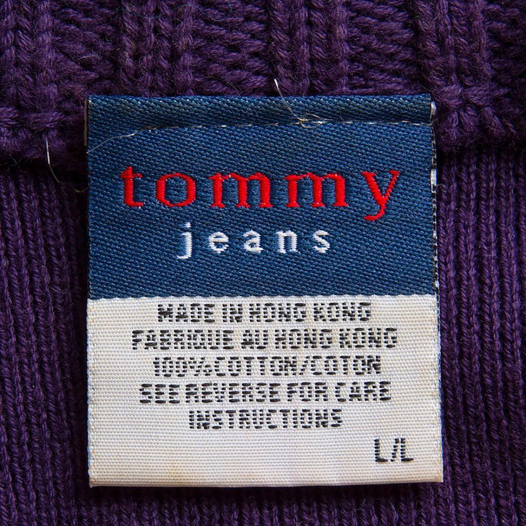 美國大牌Tommy Hilfiger紫色針織長袖外套 L號