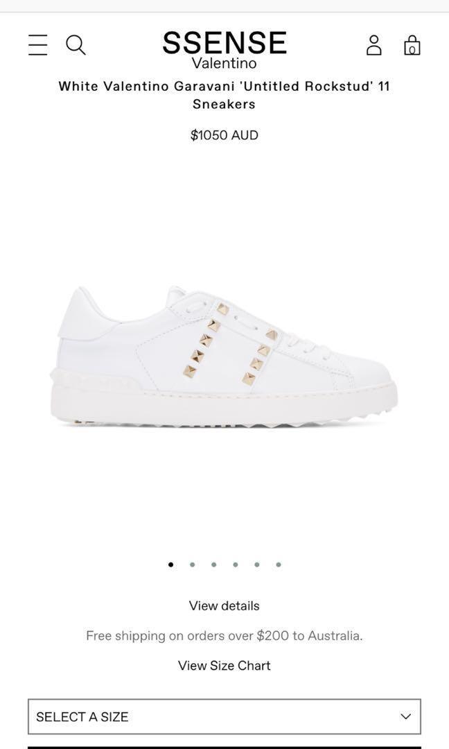 Valentino Rockstud Sneakers Luxury Apparel On Carousell