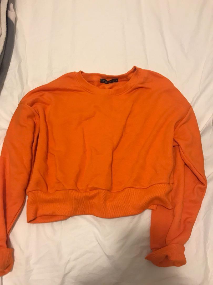 Vibrant Orange Crop Jumper