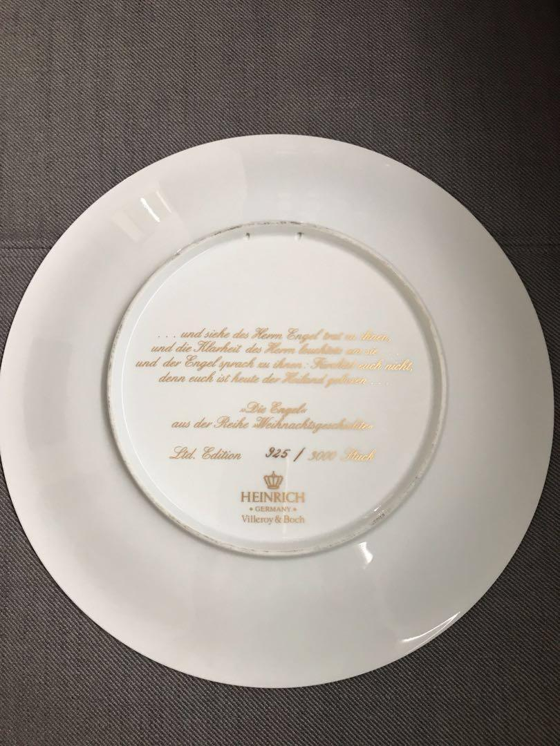 Villeroy and Boch Heinrich collectors plate no 925/3000