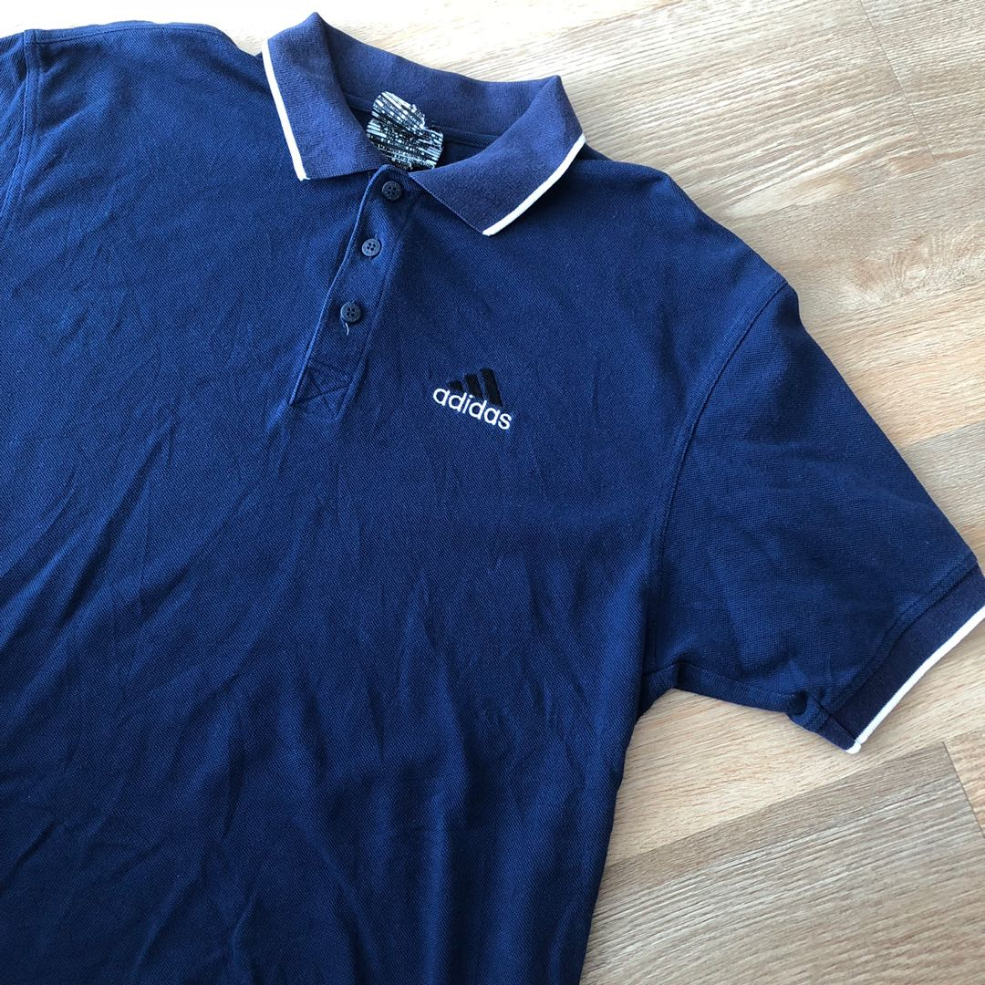 8adaf75c Vintage Adidas Polo Shirt Size L, Men's Fashion, Clothes, Tops on Carousell