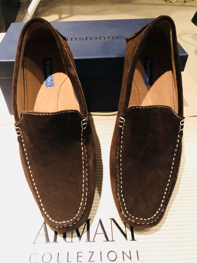 Winstonne Dark Brown Mens Loafers Size EU40