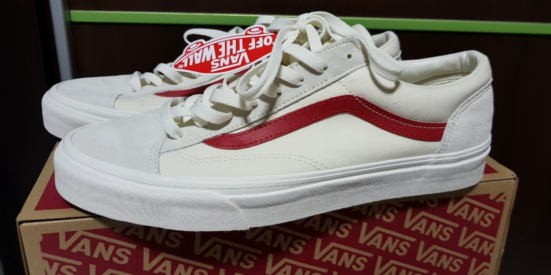 354d8bbdaf0f18 WTS BNWT Vans Style 36 Marshmallow Racing Red US10.5