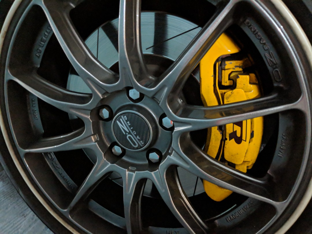 Brembo Brake Kit >> WTS Golf R Brake Kit with Brembo Slotted Rotors & almost new EBC Yellow Stuff Pads, Car ...