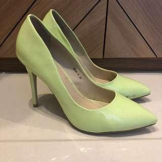 Velvet Green heels