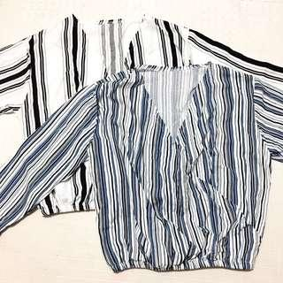 Striped Longsleeves Crop