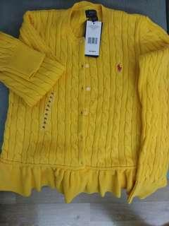 Polo 黃色外套(童裝XL,大人啱用)