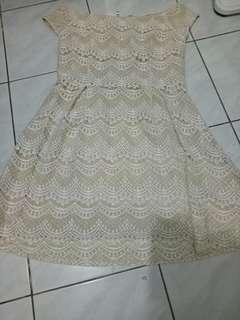 White prada lace