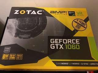 Zotac GTX 1060 6Gb AMP! Edition graphic card