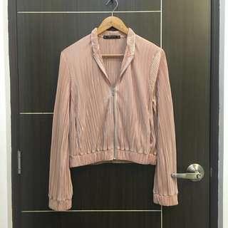Zara Pleated Blush Jacket