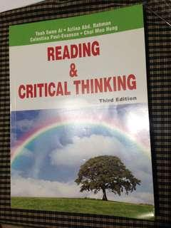 Reading & Critical Thinking #MY1010