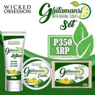 GLUTAMANSI SET BY WICKED OBSESSION