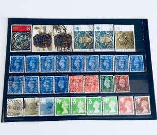 Mixed UK old stamps