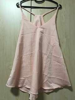 BRAND NEW | Pink Chiffon Spag Top