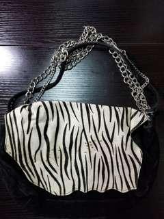 Katieb judith虎紋手袋leather