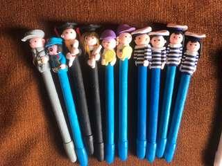 Assorted Pens Rubber-like handle
