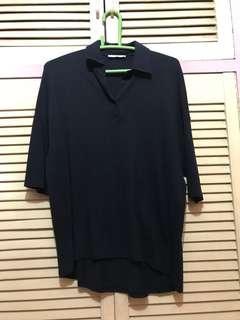 ZARA Navy Blue Button Shirt
