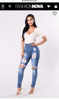 Fashion Nova Jeans size 5