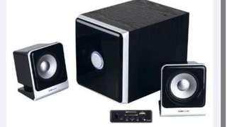 Speakers with Bass Box