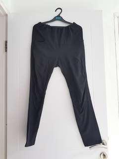 Celana panjang bumil ibu hamil st yves mom branded hitam bahan halus kaos katun banget ada karet pinggang legging jegging