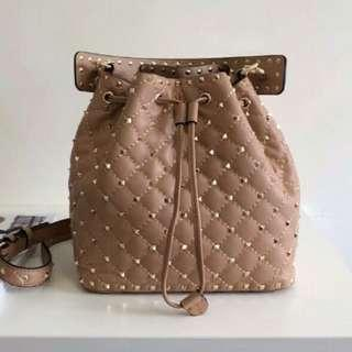 Valentino Rockstud Spike Bucket Bag