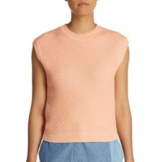 3.1 Phillip Lim Asymmetrical Ribbed Cropped Knit Sweater S (AU 8-10)