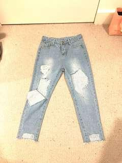 Ripped jeans size 6