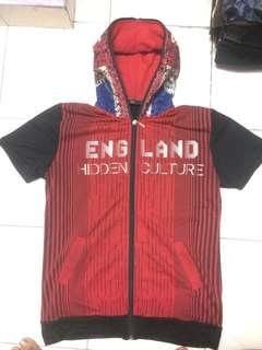 Sweater british red black