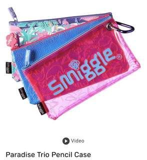 💖SALE!!!💖 Authentic Smiggle Paradise Trio Pencil Case (Lilac)