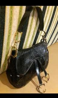 Dior saddle in black reprice ..fastsale 😚