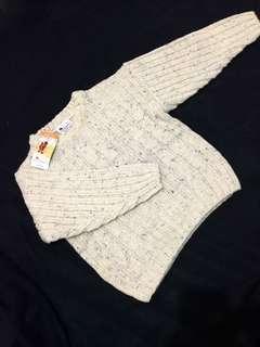 Sido Cable Sweater & Rossy White Bolero