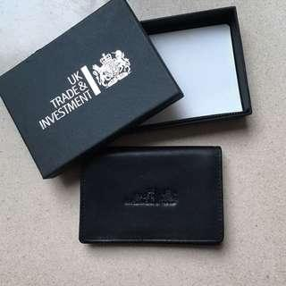 Uk trade and investment genuine leather card holder